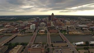 Aerial Iowa Des Moines