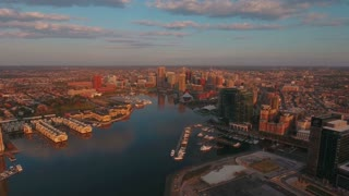 Aerial Maryland Baltimore September 2016 4K