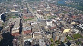 Aerial Minnesota Minneapolis September 2016 4K