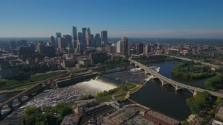 Aerial Minnesota Minneapolis September 2016 4K