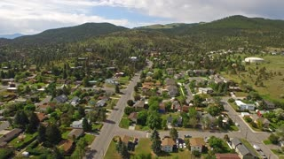 Aerial Montana Countryside Small Town