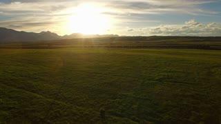 Aerial Montana Countryside