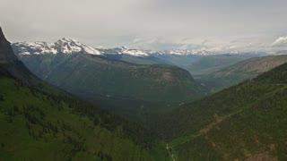 Aerial Montana Glacier National Park