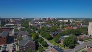 Aerial Nebraska Lincoln City September 2016 4K