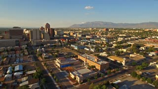 Aerial New Mexico Albuquerque