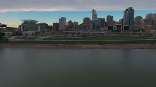 Aerial Ohio Cincinnati September 2016 4K