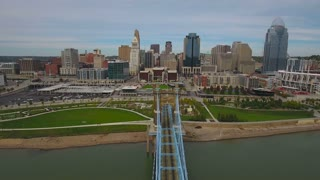 Aerial Ohio Cincinnati September 2016 4K