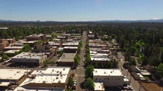 Aerial Oregon Bend Downtown