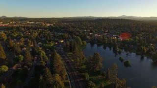 Aerial Oregon Bend Drake Park