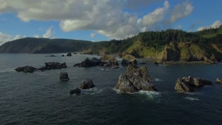 Aerial Oregon Canon Beach September 2016 4K