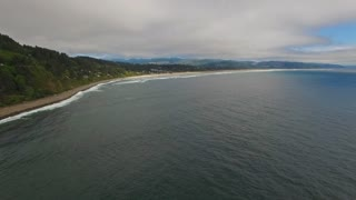 Aerial Oregon Canon Beach