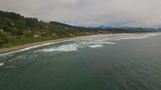 Aerial Oregon Canon Beach