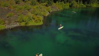 Aerial Oregon Clear Lake September 2016 4K