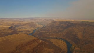 Aerial Oregon Deschutes River