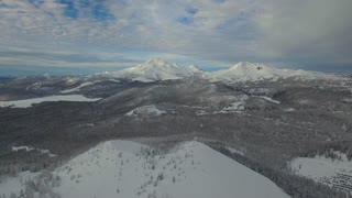 Aerial Oregon Mt Bachelor