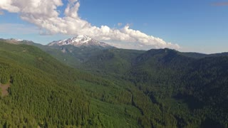 Aerial Oregon Mt Jefferson Forest