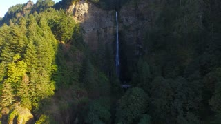 Aerial Oregon Multnomah Falls