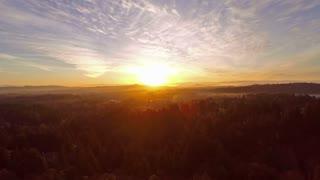Aerial Oregon Portland Mt Hood