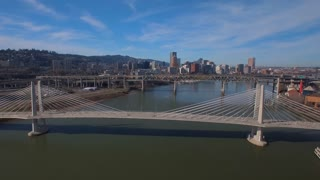 Aerial Oregon Portland Tillicum Bridge