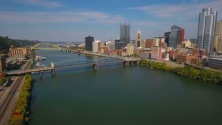 Aerial Pennsylvania Pittsburgh September 2016 4K
