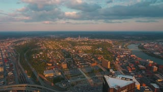 Aerial Pennsylvania Pittsburgh September 2016 4K