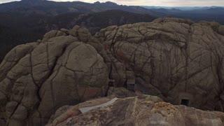 Aerial South Dakota Mt Rushmore