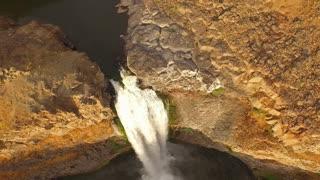 Aerial Washington Palouse Falls
