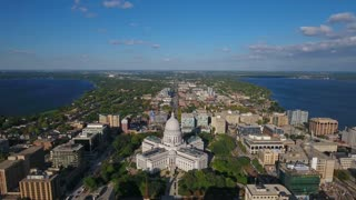 Aerial Wisconsin Madison September 2016 4K