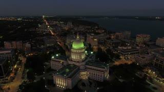 Aerial Wisconsin Madison September 2016 4K
