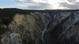 Aerial Wyoming Yellowstone National Park