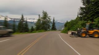 Driving Montana Glacier Park