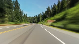 Driving Oregon Mt Hood Forest