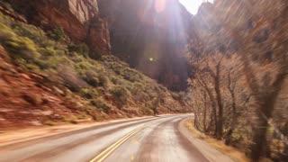 Driving Utah Zion National Park