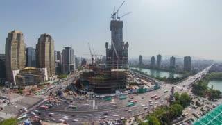 Seoul Korea Jamsil Construction