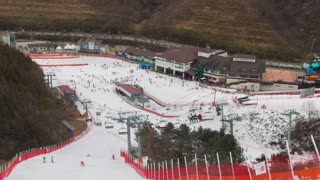 Seoul Korea Ski Slope
