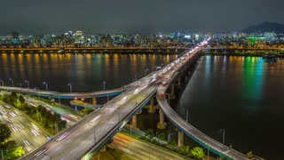 Seoul Korea Waterfront Bridges