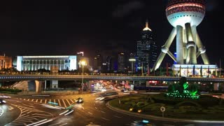 Shanghai Pudong Area Time Lapse