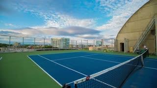 Time lapse of man playing tennis
