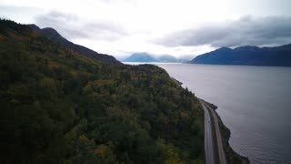 Aerial Alaska Anchorage Turnagain Arm September 2017 Overcast Day Wide Angle 4K Inspire 2 Prores