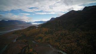 Aerial Alaska Knik Lodge Wilderness September 2017 Sunny Day Wide Angle 4K Inspire 2 Prores