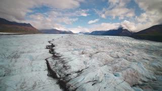 Aerial Alaska Knik Glacier September 2017 Sunny Day Wide Angle 4K Inspire 2 Prores