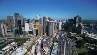 Aerial Australia Sydney April 2018 Sunny Day 15mm Wide Angle 4K Inspire 2 Prores  Aerial video of downtown Sydney in Australia on a clear beautiful sunny day.