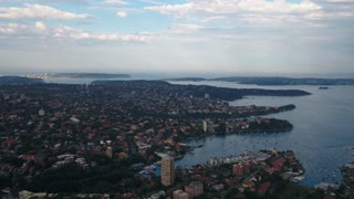 Aerial Australia North Sydney April 2018 Partly Cloudy Day 30mm 4K Inspire 2 Prores  Aerial video of downtown Sydney and North Sydney in Australia on an overcast day