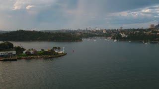 Aerial Australia North Sydney April 2018 Partly Cloudy Day 30mm 4K Inspire 2 Prores  Aerial video of downtown Sydney and North Sydney in Australia on an overcast day.