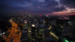 Aerial Australia North Sydney April 2018 Night Thunder Storm 30mm 4K Inspire 2 Prores  Aerial video of downtown Sydney and North Sydney in Australia on a storming thunderstorm night.