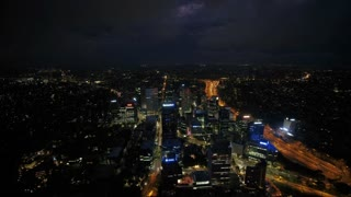 Aerial Australia 7834 North Sydney April 2018 Night Thunder Storm 15 Mm 4 K Inspire 2 Prores