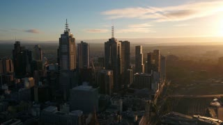 Aerial Australia Melbourne April 2018 Sunny Day 30mm 4K Inspire 2 Prores  Aerial video of downtown Melbourne on a sunny day.