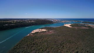 Aerial Australia Kalimna West Rigby Island SE Coast April 2018 Sunny Day 30mm 4K Inspire 2 Prores  Aerial video of a park along the south east coast of Australia.