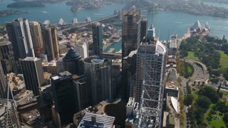 Aerial Australia Sydney April 2018 Sunny Day 30mm 4K Inspire 2 Prores  Aerial video of downtown Sydney in Australia on a clear beautiful sunny day.