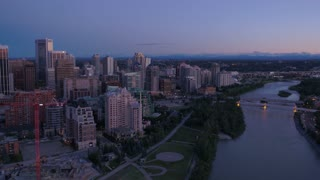 Aerial Canada Calgary June 2017 Sunset 4K Inspire 2 ProRes